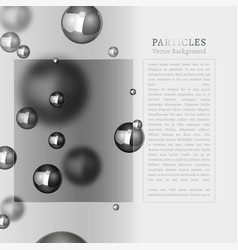 abstract particles background vector image vector image
