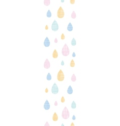 Abstract textile colorful rain drops vertical vector image vector image