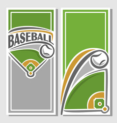 Banner of baseball diamond vector