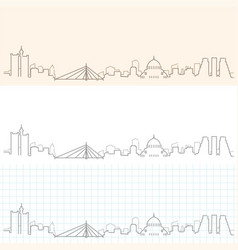belgrade hand drawn skyline vector image