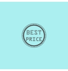 Best price icon badge label or sticker vector