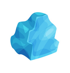 blue icy cliff iceberg vector image