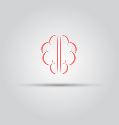 brain isolated abstract logo of lines vector image