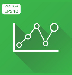 business graph icon business concept chart vector image