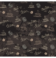 Coffe timeSeamless pattern vector image