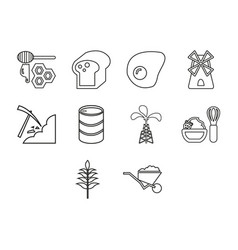 Commodity icon set vector