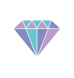 Diamond icon Shiny crystal vector image