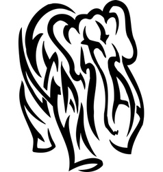Elephant in tribal style - vector