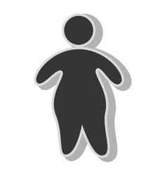 Fat boy pictogram vector image
