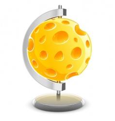 globe planet vector image vector image