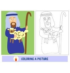 Homework for kids how to paint a shepherd with vector