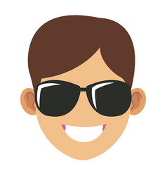 Man with sunglasses face vector