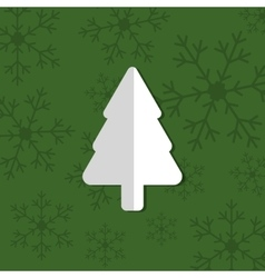 Merry christmas tree pine card vector image vector image
