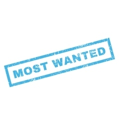 Most wanted rubber stamp vector