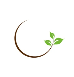 Organic leaf logo vector image vector image