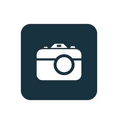 photo camera icon Rounded squares button vector image