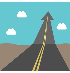 Success road with arrow vector image