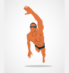 swimming logo sport vector image