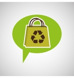 symbol recycle bag design vector image