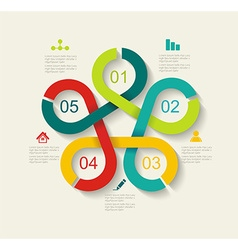 Time line design vector