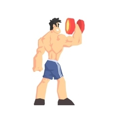 Weightlifter From Behind vector image vector image