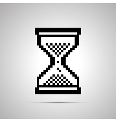 White pixelated computer cursor in hourglass shape vector image vector image