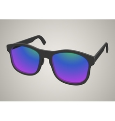 Isolated realistic sunglasses with colored glass vector