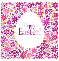 happy easter egg card vector image