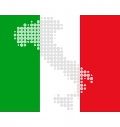 Italy dots flag vector image