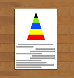 document with color pyramid graphic vector image