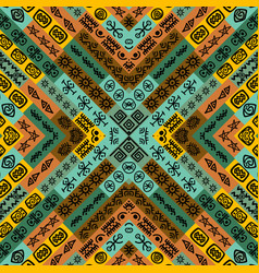 ethnic motifs seamless background vector image