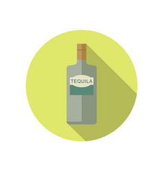 tequila icon in flat style vector image