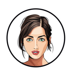 Portrait woman makeup charming beautiful vector