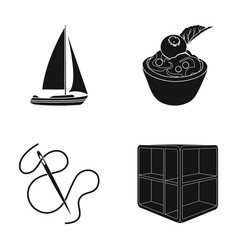 Wood cabinet sports and other web icon in black vector