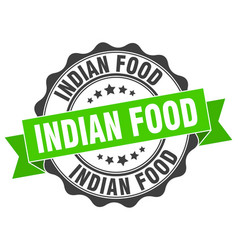 Indian food stamp sign seal vector