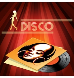 Disco club poster design vector