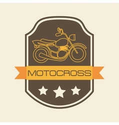 Motorcycle shield vector
