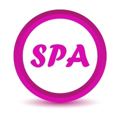 Purple spa icon vector