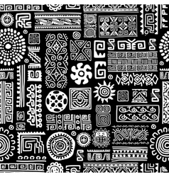Ethnic handmade ornament seamless pattern for vector