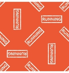 Orange running stamp pattern vector