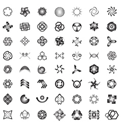 Unusual icons set - isolated on white background vector