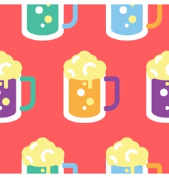 Seamless beer glass pattern icon vector