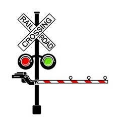Rail crossing signal icon simple style vector