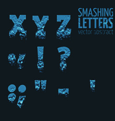 Abstract smashing mesh letters vector