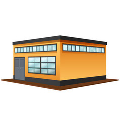 Architecture design for square building vector
