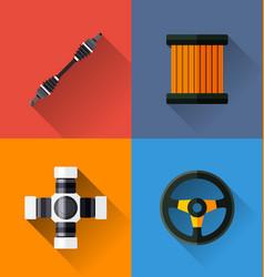 Automotive spare parts vector