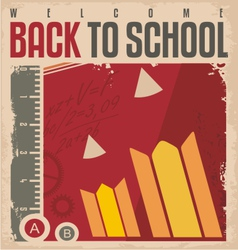 Back to school retro poster vector image