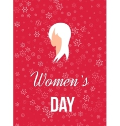 Beautiful girl for happy women s day background vector
