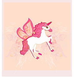 beautiful Unicorn vector image