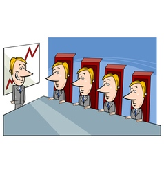 Board of directors cartoon vector